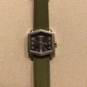 Vintage Guess watch dome shape Crystal SS
